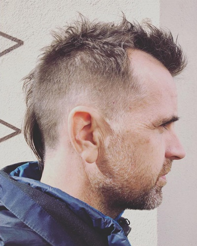 Short Mohawk With Mullet