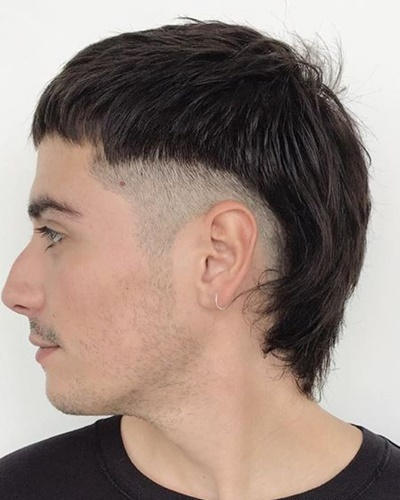Shaved Sides with Short Mullet Hairstyle