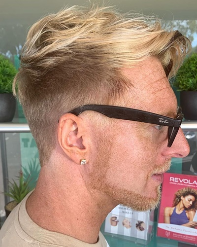 Two-Tone Fade and Undercut Hairstyle
