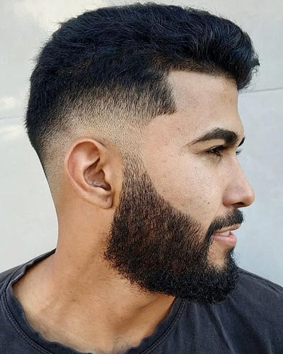 Low Fade Haircuts with Trimmed Beard
