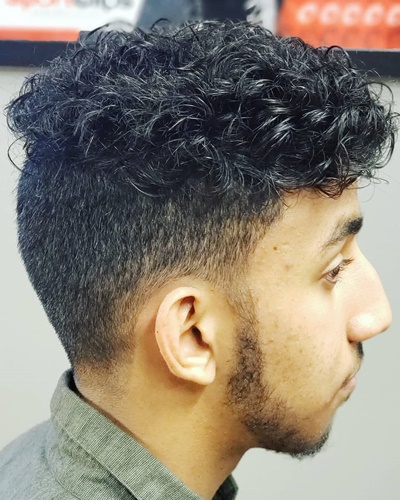 Disconnected Undercut Hairstyles with Styled Curls