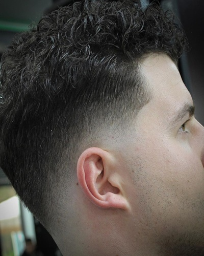 Fade Styles with Curly Top