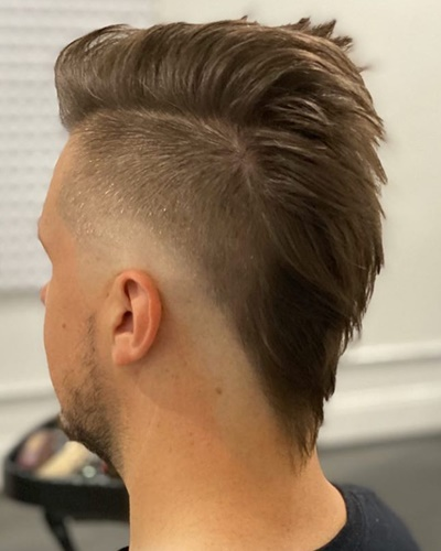 Mullet with Disconnected Undercut Haircut