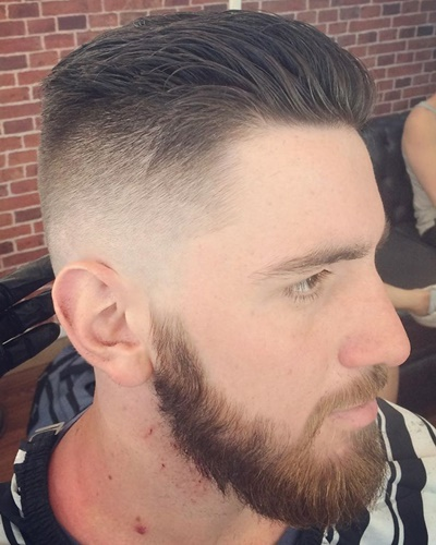 Short Pompadour with Fade Style
