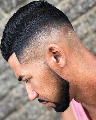 Slicked Back Low Fade Haircuts