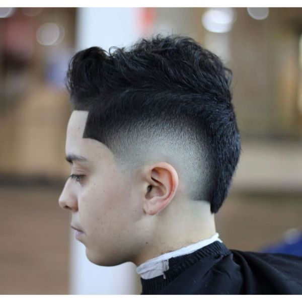 Arch Fade Short Haircut with Long Top