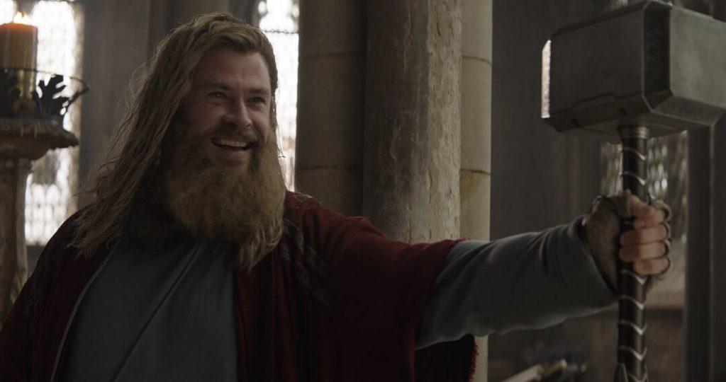 Avengers Endgame Chris Hemsworth Shoulder-length Haircut and Thick Beard