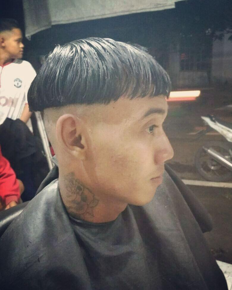 Bowl Cut with Fully Shaven Undercut