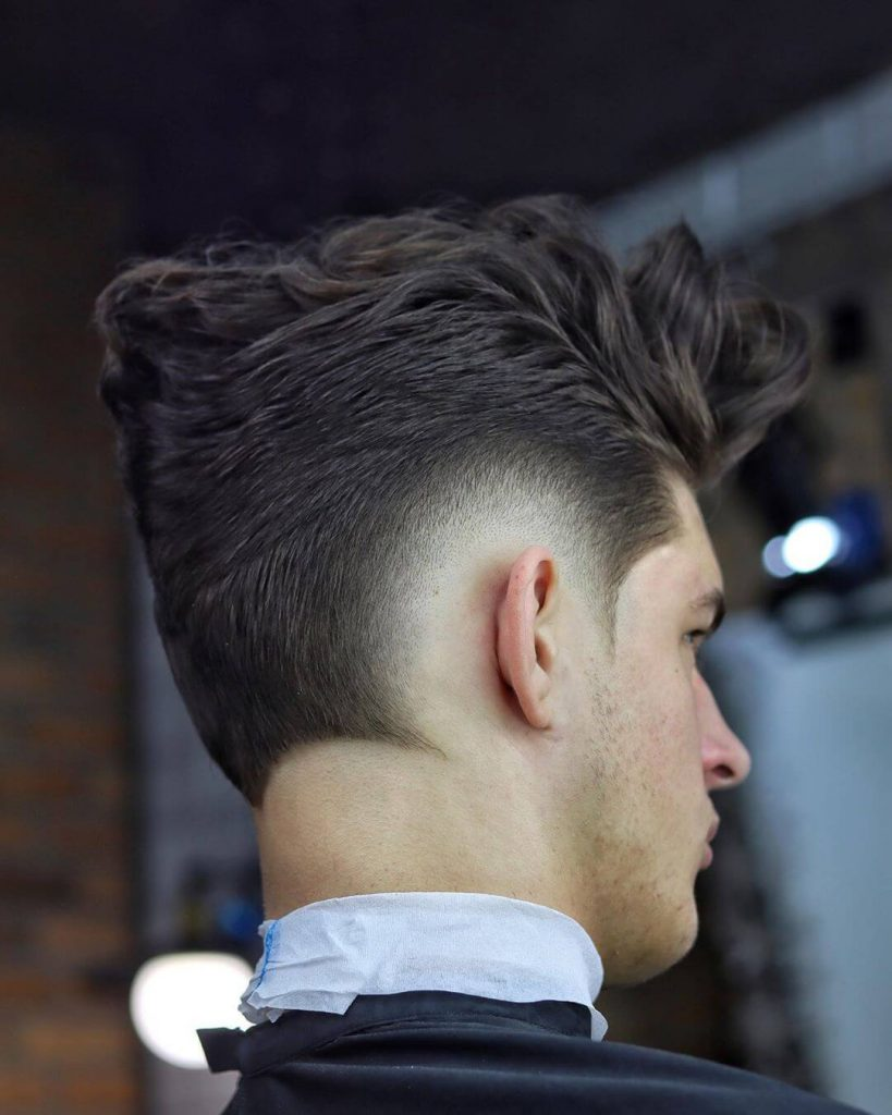 Burst Low Fade Ducktail Pompadour Haircut