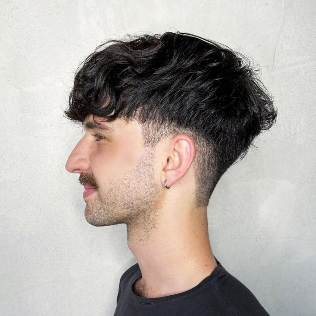 Disconnected Taper with Shaggy Top Hairstyle