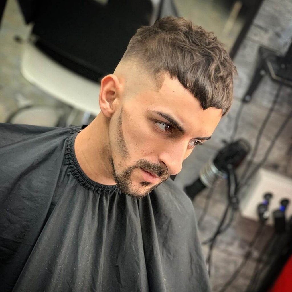 Drop Fade Beard and V-shaped French Crop