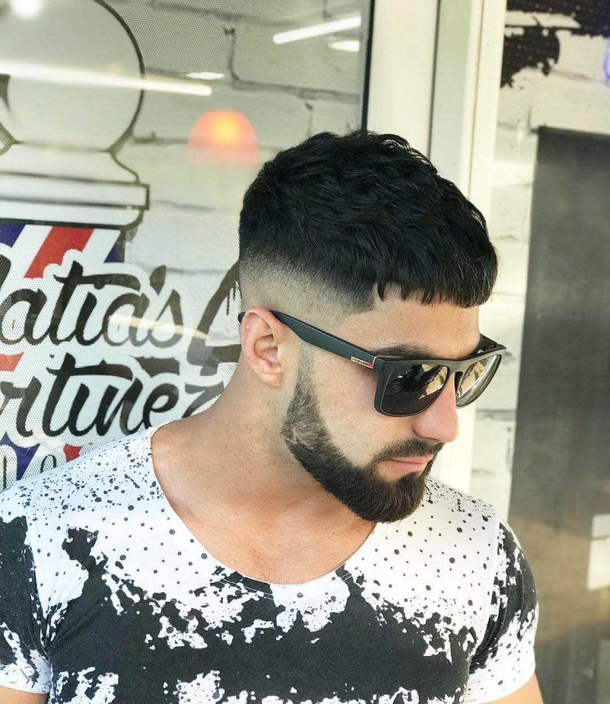Fade in Beard with Skin Fade French Crop