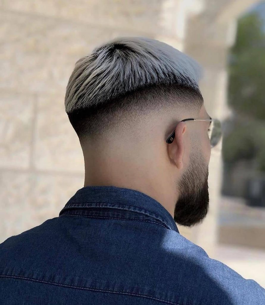 Frosted Shadow Roots Mid Skin Fade French Crop Haircut