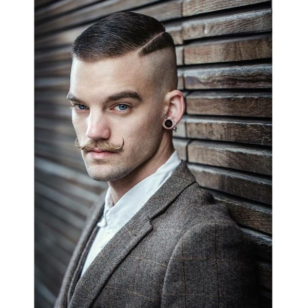 High and Tight Short Haircut with Side Part