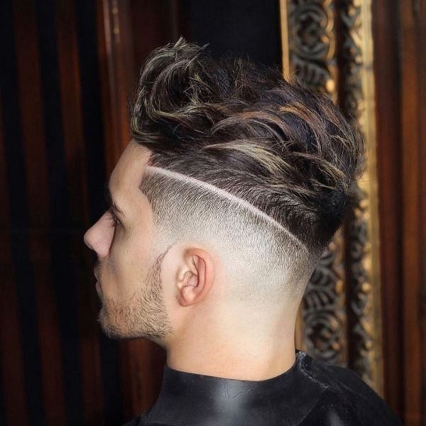 High and Tight Skin Fade with Layered Long Top