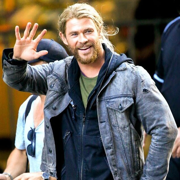 Long Hair and Low Ponytail Chris Hemsworth Hairstyle