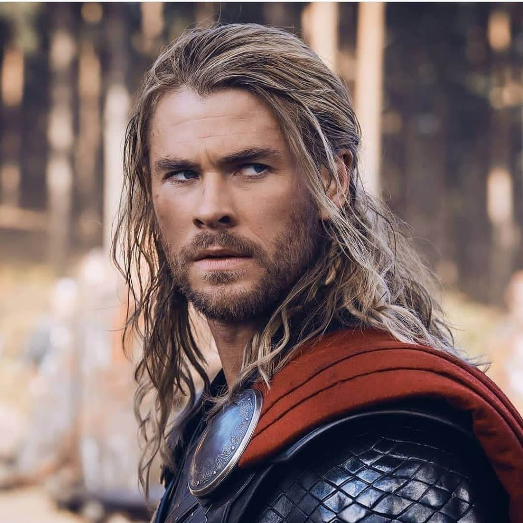 Messy Half Up Shoulder-length Thor Hairstyle