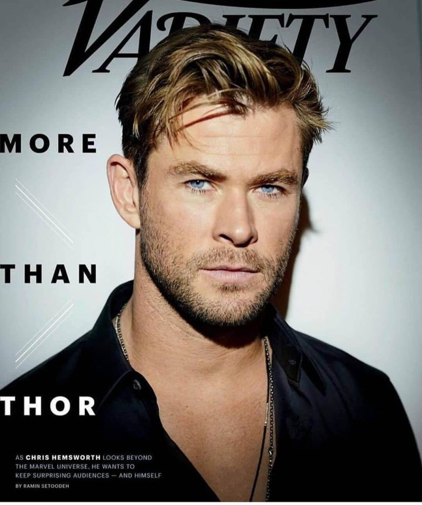 Messy Quiff with Short Sides Chris Hemsworth New Haircut