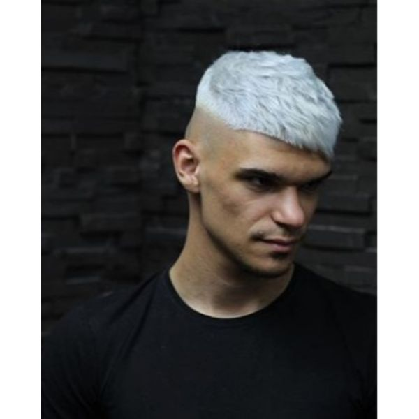 Nordic Ice Disconnected Undercut with Asymmetric Baby Bangs