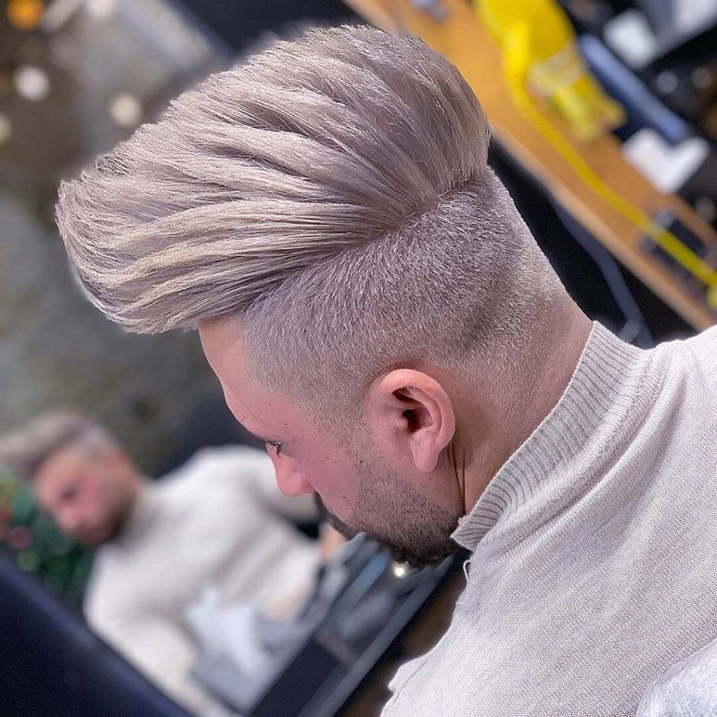 Man With Piecey Pompadour Hairstyle