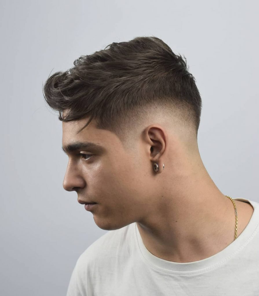 Man With short on sides long on top haircut