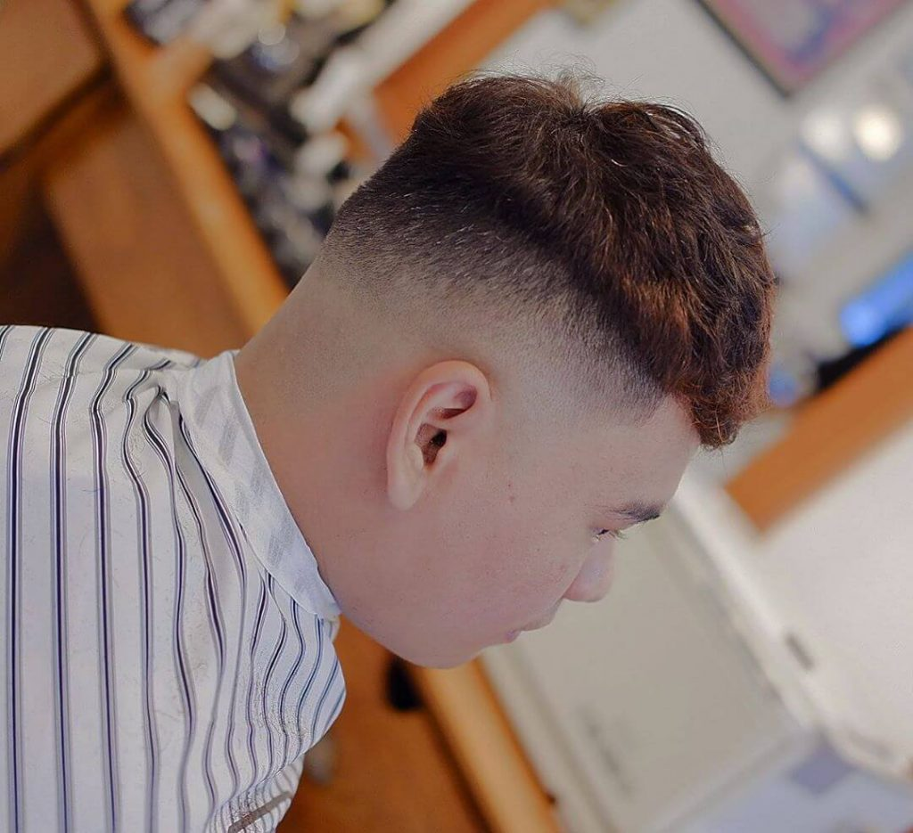 Piecey Top Caesar Cut and High Taper Fade