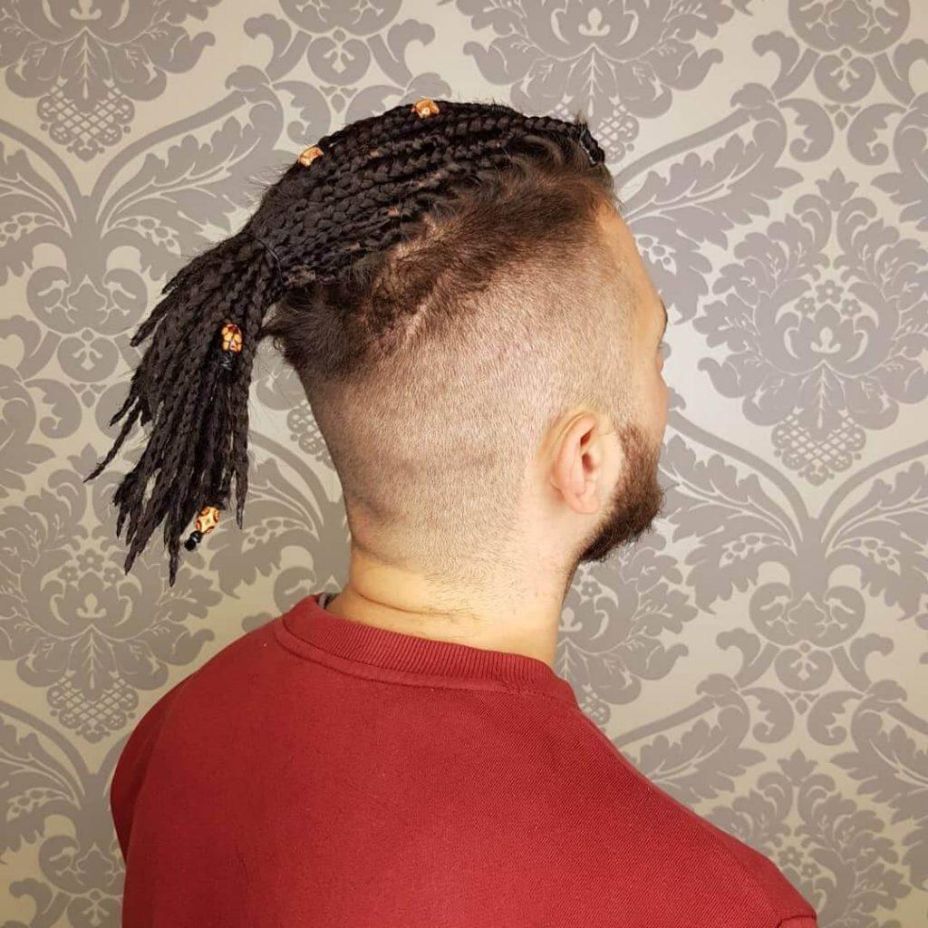 Ponytail Top Knot Men Box Braids Men Hairstyle