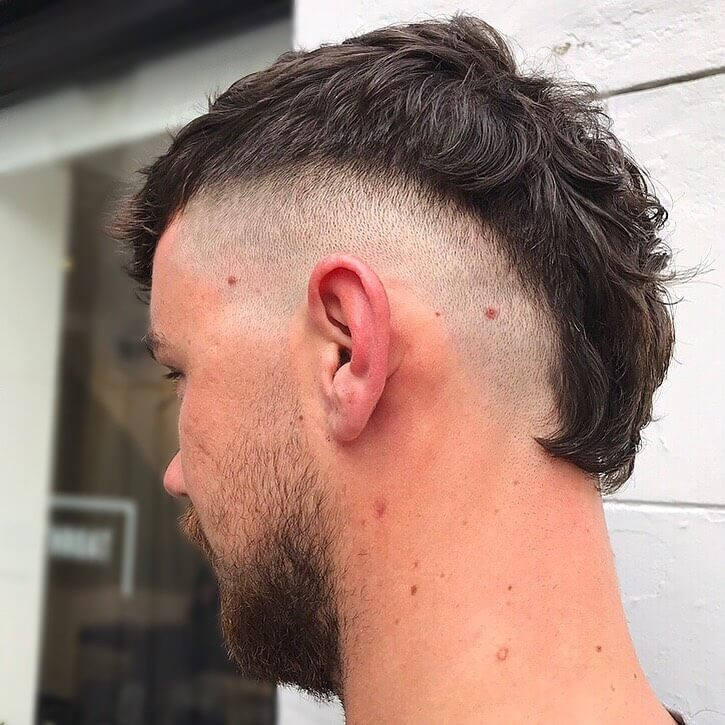 Soccer Player Textured Mohawk with Bald Fade Sides
