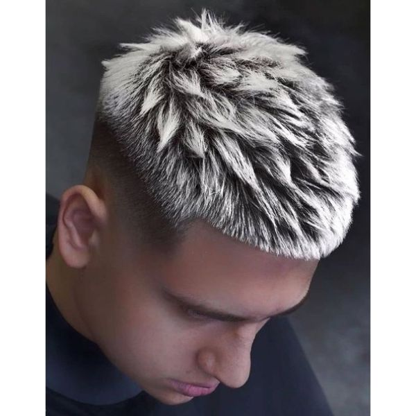 Spiky Frosted Tips Disconnected Undercuts Hairstyle