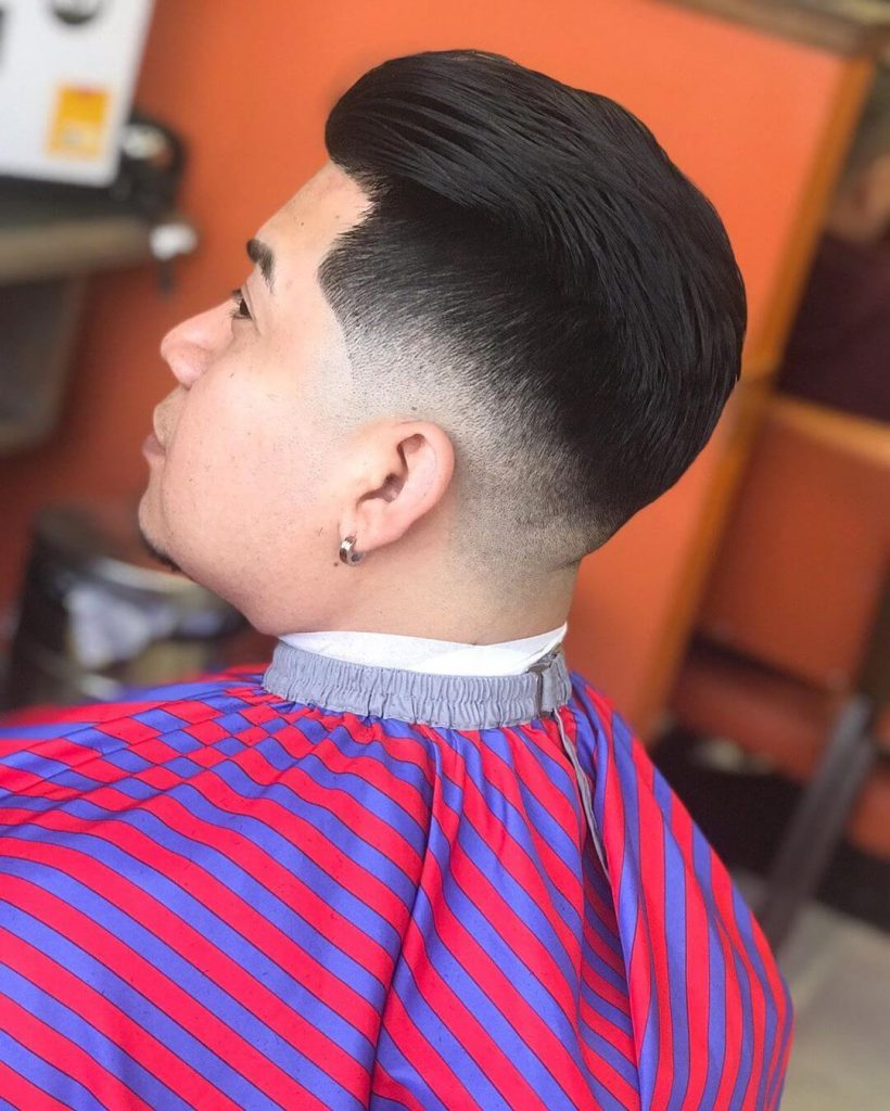 Swept Back Taper Fade Haircut