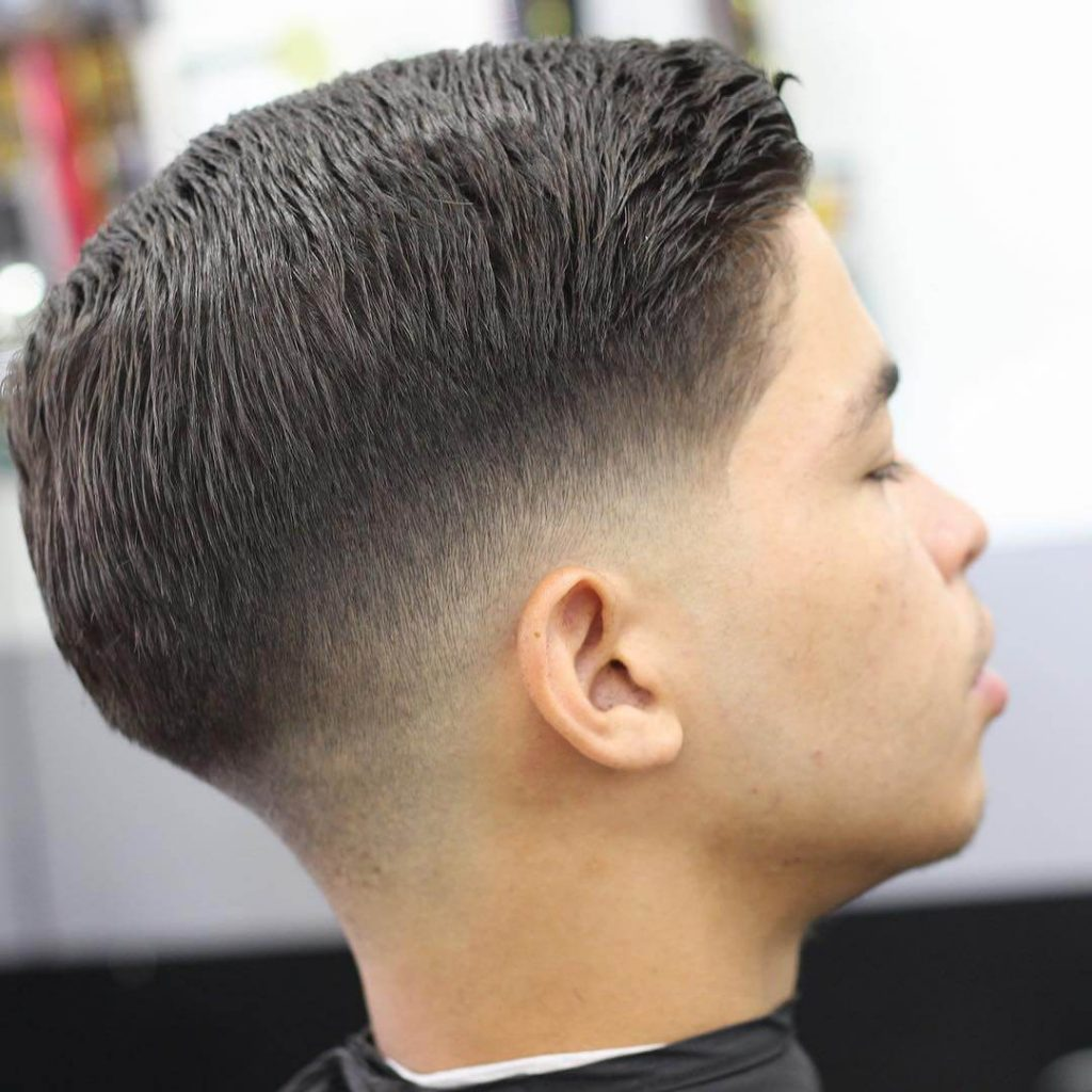 Textured Combover Low Taper Fade Haircut