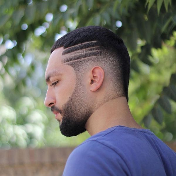 Ultra-short Mullet Cut with Side Razor Pattern