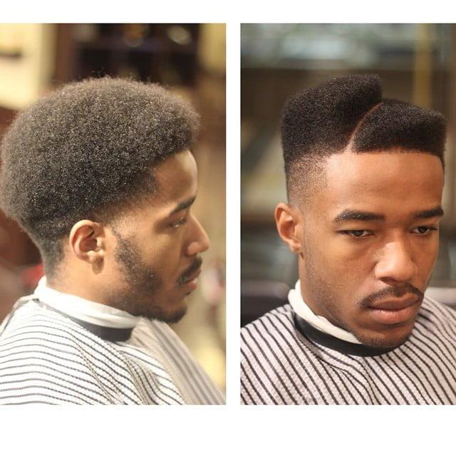 Diagonal Shaped Hi-top Juice Fade Haircut