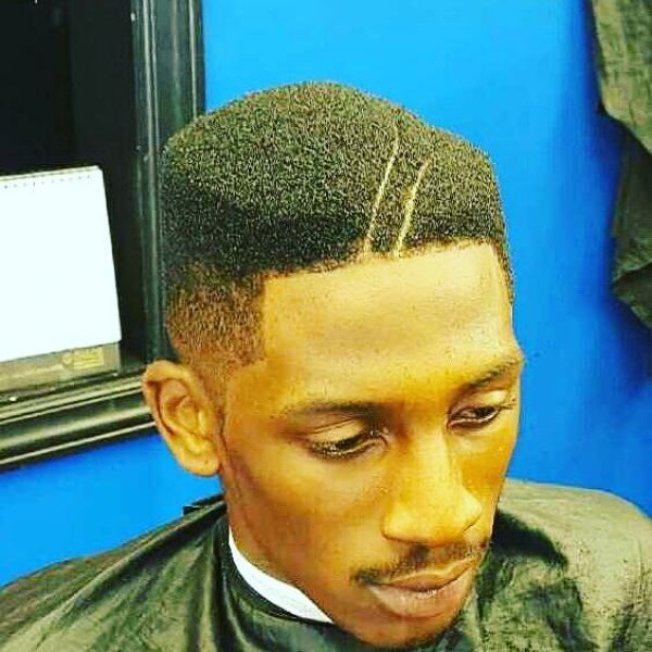 Flat Top Juice Box Fade with fine lines