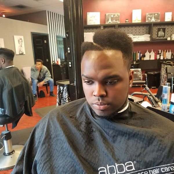 Hi-top Juice Box Fade with smooth edges