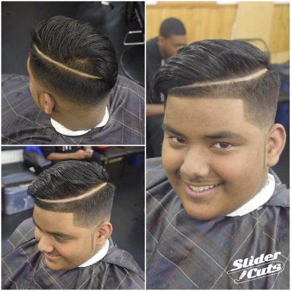 Straight Hair Juice Box Fade Cut