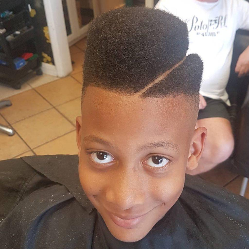 Textured High-Top Juice Box Haircut
