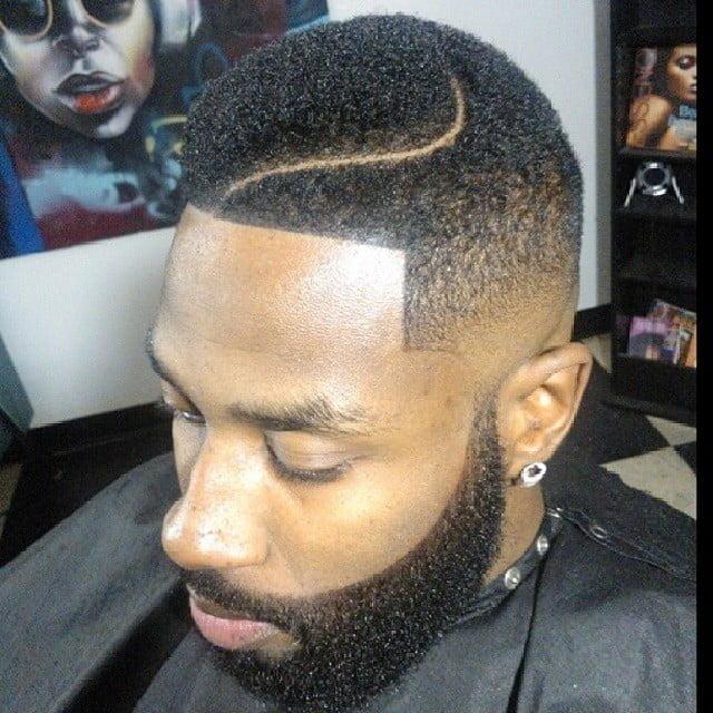 Wavy High Tight Juice Fade Haircut