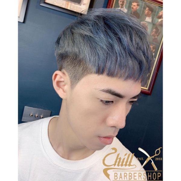Ashy Blonde Layered Short Haircut
