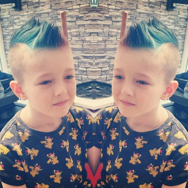 Blue Colored Punk Style Mohawk