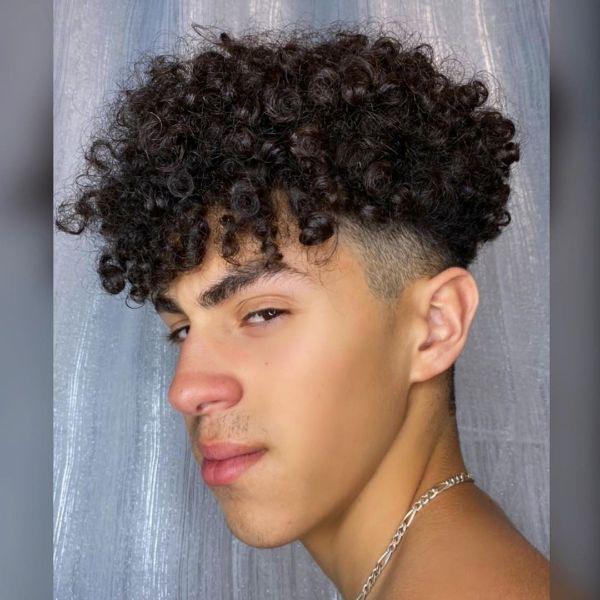 Bowl-Cut for Medium-long Curly Hair