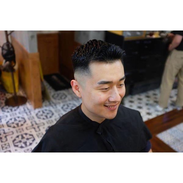 Brush Style for Korean Men Haircut