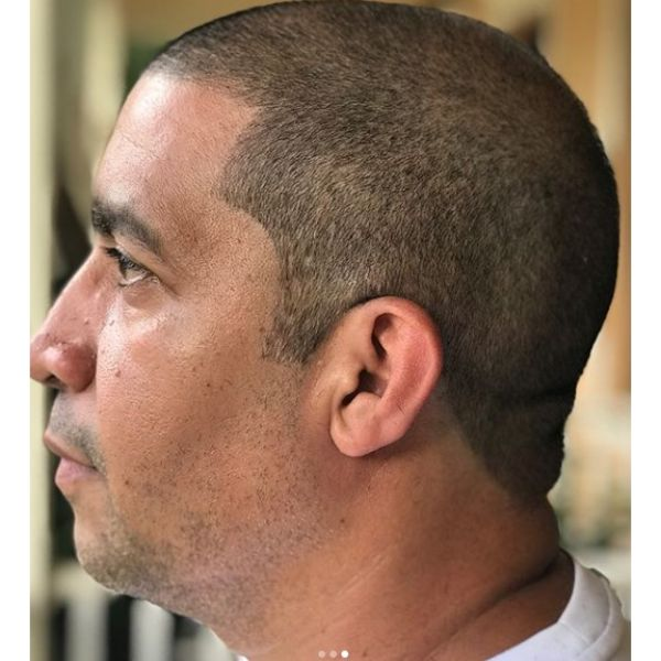 Buzz Cut Hairstyle for Older Men