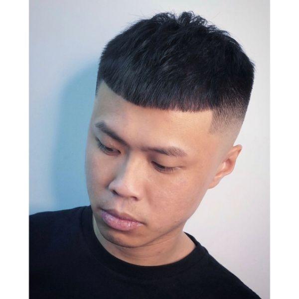 Classic Fade Cut for Korean Men