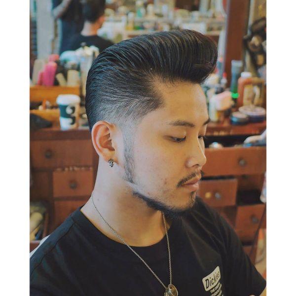 Classic Pompadour for Korean Men Haircut
