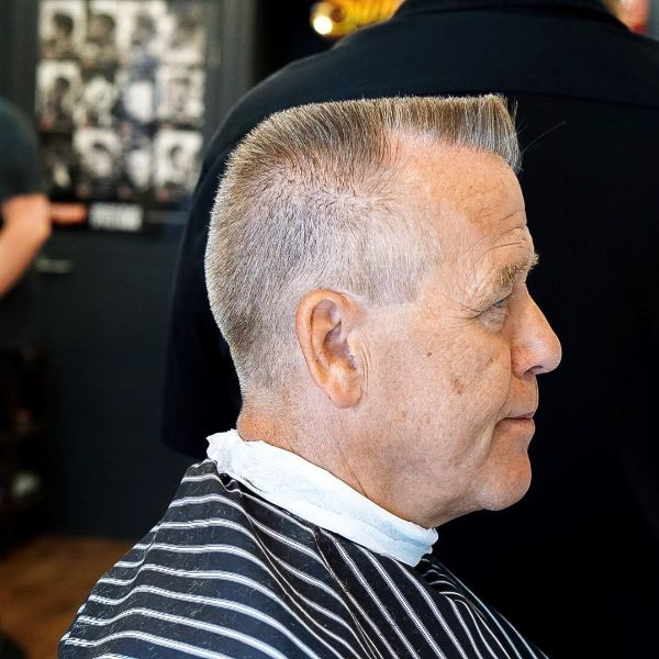 Classic Sharp Flattop for Older Men