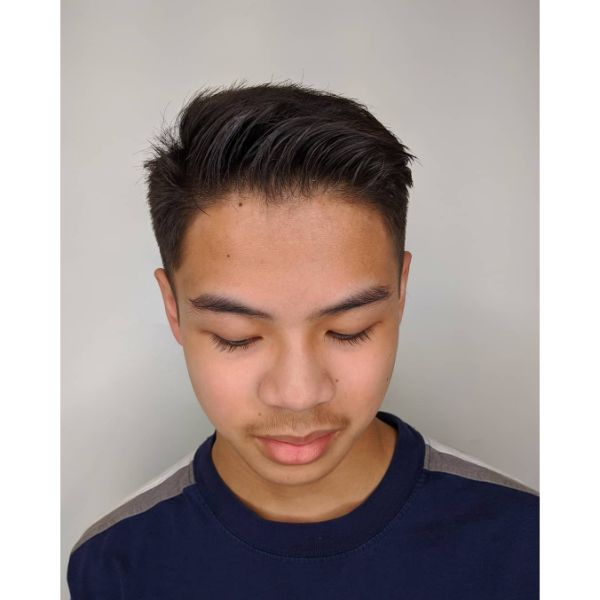 Classic Taper Haircut with Natural Styling