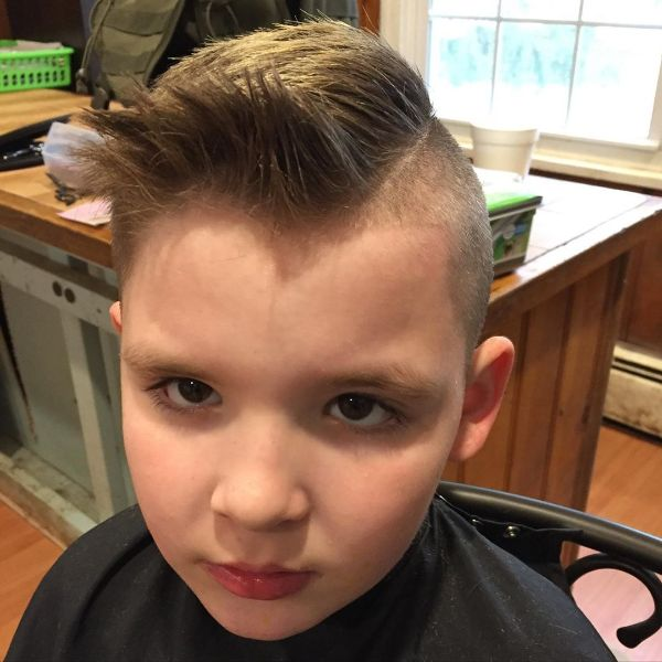 Comb-over Fade Cut with Spiky Top