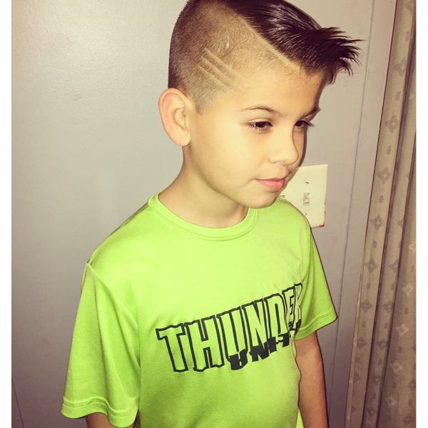 Comb-over Skin Fade Cut with Surgical Line