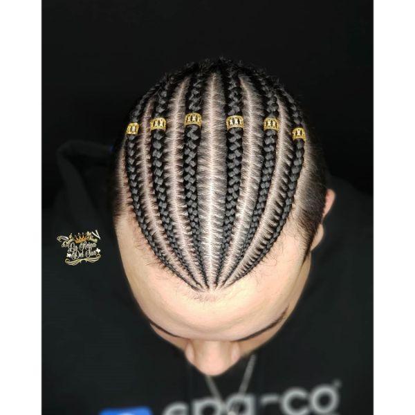 Cornrows with Hair Cuffs